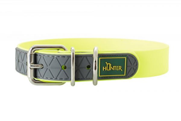 HUNTER Hundehalsband Convenience neongelb