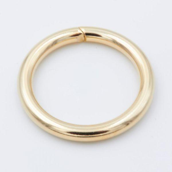 O-Ring Stahl, vergoldet