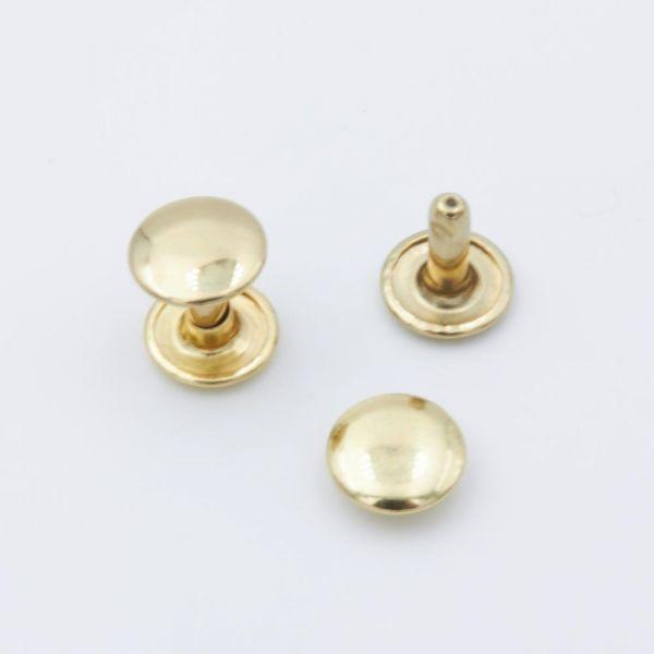 Doppel-Hohlniete Stahl gold