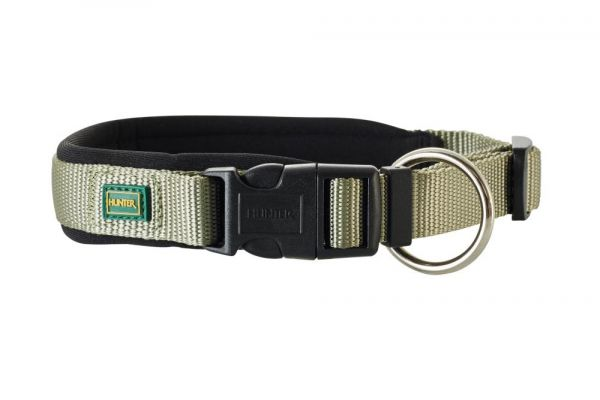 HUNTER Hundehalsband Vario Plus Neopren oliv/schwarz