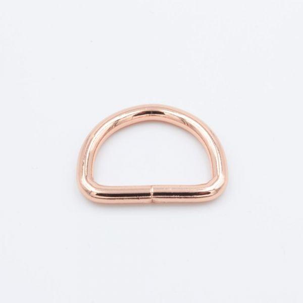 D-Ring Stahl, roségold