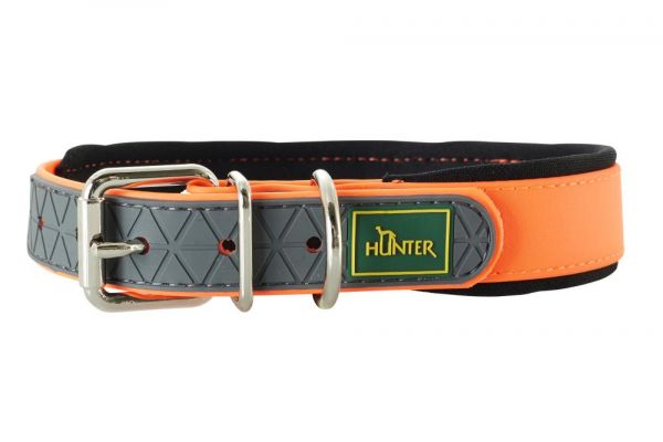 HUNTER Hundehalsband Convenience Comfort V2 neonorange