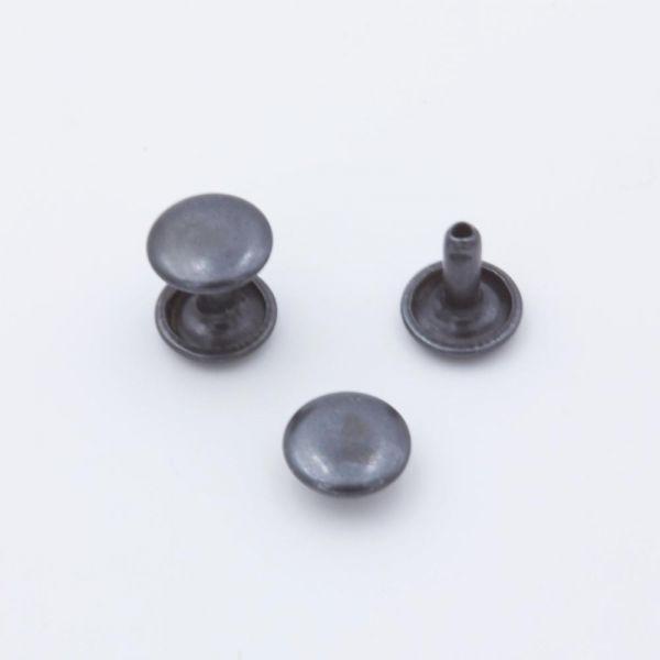 Doppel-Hohlniete Stahl schwarz