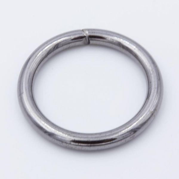 O-Ring Stahl, gunmetal Schwarz