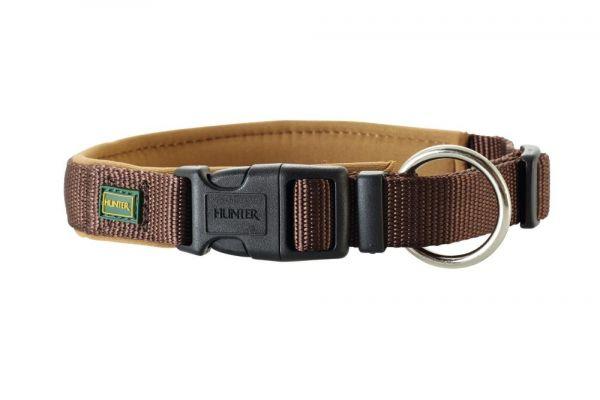 HUNTER Hundehalsband Vario Plus Neopren braun/karamell