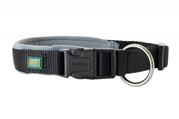 HUNTER Hundehalsband Vario Plus Neopren schwarz/grau